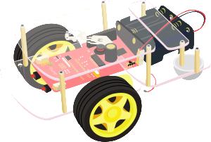 Robot avec carte Raspberry-Pi